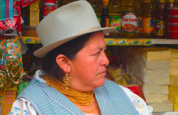 ecuador-Otavalo-Marktfrau
